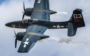 Картинка истребитель, Grumman, палубный, Tigercat, F7F