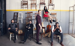 Картинка Kirstie Maldonado, Mitch Grassi, Kevin Olusola, Scott Hoying, Avi Kaplan, Pentatonix
