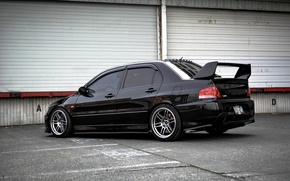 Обои Evolution, Mitsubishi, Эволюшен, Lancer, Митсубиши, Beautiful, Лансер, black, Style, JDM