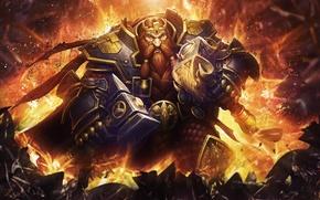 Обои Dwarf, World of Warcraft, magni bronzebeard, WoW, Hearthstone: Heroes of Warcraft