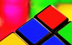Обои макро, кубик, кубик Рубика, головоломка