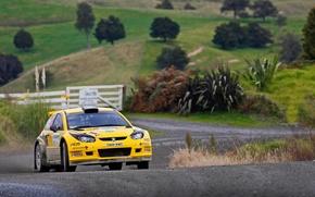 Картинка Желтый, Спорт, Машина, Гонка, WRC, Rally, Ралли, Proton
