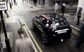 Картинка Concept, Англия, Город, Люди, Mini Cooper, Мини Купер, Rocetman, Размытие
