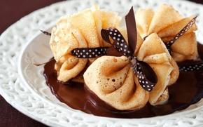 Картинка еда, шоколад, блины, food, chocolate, sweet, dessert, pancakes, сладкие, десерты