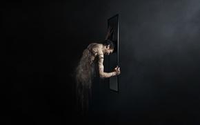 Картинка стиль, человек, зеркало