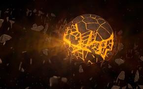 Картинка взрыв, рендер, 3D-графика
