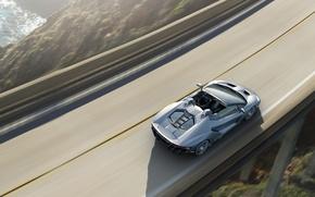 Обои Roadster, вид сверху, Lamborghini, ламборгини, автомобиль, Centenario, обои
