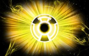 Картинка logo, comics, lantern, DC Comics, Yellow Lantern