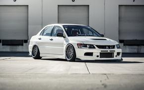 Картинка Mitsubishi, Lancer, Evolution, BBS, Stance, Fitment