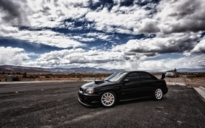 Обои облака, небо, black, Subaru