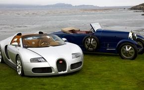 Картинка ретро, серебристый, Veyron, родстер, кабриолет, классика, Buggati, Gran Sport