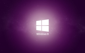 Обои minimal, windows, purple, 8.1