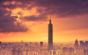 Картинка небо, облака, тепло, Тайбэй, провинция Тайвань, КНР