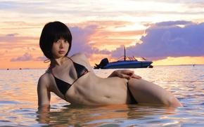 Картинка beach, asian, boat