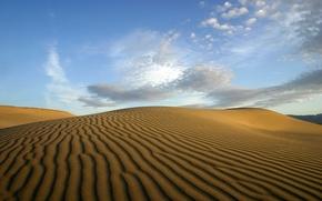 Обои облака, пустыня, Песок