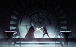 Картинка star wars, darth vader, lightsaber, jedi, sith, luke skywalker, Star Wars: Episode VI - Return …