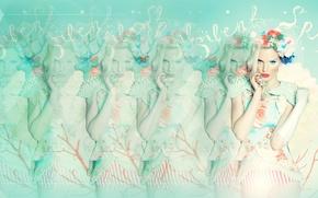 Картинка girl, blur, cream, Retro, full, efect