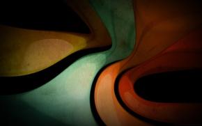 Обои цвета, изогнутые, линии, арт, фон, текстура, обои