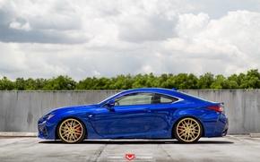 Картинка машина, авто, деревья, Lexus, wheels, диски, auto, Forged, бок, 2015, Vossen Wheels, VPS-308