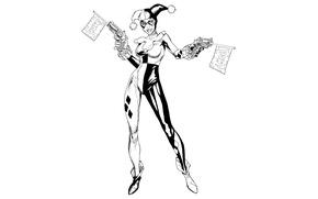 Картинка Girl, Art, Харли Квинн, DC Comics, Harley Quinn