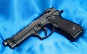 Обои Пистолет, Ствол, 9mm, Беретта, Beretta 92F, Полотно