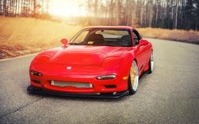 Картинка car, тюнинг, red, tuning, мазда, mazda rx-7