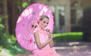 Картинка зонт, платье, девочка, Julia Altork, Southern Belle