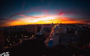Картинка небо, закат, рука, вечер, тату, sky, sunset, evening, Владимир Смит, Vladimir Smith, Калуга, Kaluga, hand ...