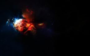 Картинка взрыв, вселенная, Космос, космические корабли