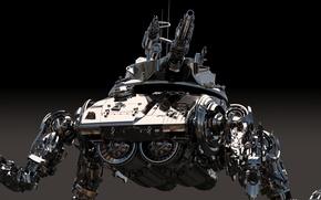 Картинка металл, оружие, фон, робот, мех