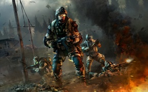 Картинка Warface, crytek, crytek kiev, mail.ru group, солдат, оружие, шлем