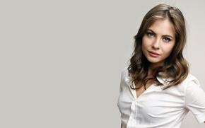 Картинка девушка, актриса, белая, girl, рубашка, white, actress, Willa Holland, shirt, Уилла Холланд