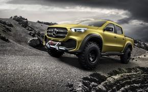 Обои концепт, Mercedes - Benz, Мерседес Бенц, 2016, X-Class, внедорожный пикап, Powerful Adventurer