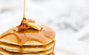 Обои масло, еда, мёд, блины, масленица