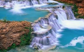 Картинка водопад, вода, река