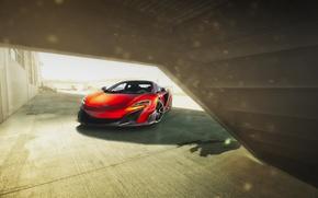 Обои Automotive, McLaren, Supercar, Front, 675LT, Orange