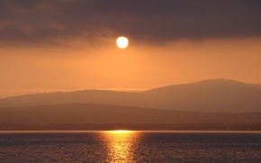 Картинка море, солнце, закат, горы, природа, Геленджик, Кубань, Akela White