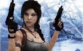 Картинка пистолеты, wallpaper, Tomb Raider, game, Лара Крофт, Square Enix, Lara Croft, Расхитительница гробниц