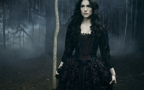 Обои Janet Montgomery, emissary of evil, TV series, evil, brunette, darkness, Salem, ring, witch, Mary Sibley