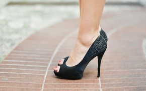 Картинка black, fashion, heels, feet