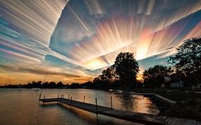 Картинка небо, облака, абстракция