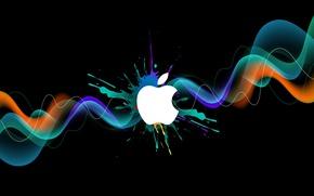 Картинка краска, apple, logo, бренд