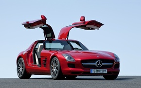 Картинка Mercedes-Benz, мерседес, AMG, 2014, C197, SLS 63