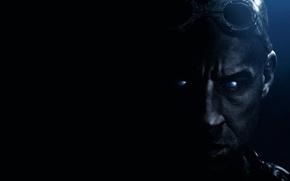 Риддик 3D, Riddick, Вин Дизель, Vin Diesel, темнота, лицо, обои