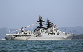 Картинка корабль, большой, Россия, противолодочный, Адмирал Пантелеев