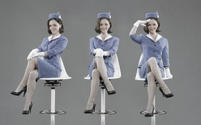 Картинка girl, woman, pretty, cute, actress, uniform, Pan Am, Christina Ricci, stewardess, airline, Pan American