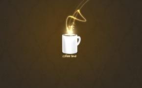 Обои минимализм, кофе, чашка