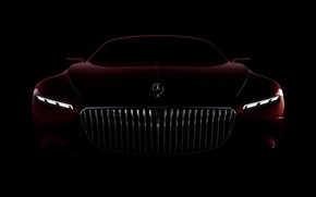 Обои car, wallpaper, Mercedes, red, black, Maybach, beauty, comfort, luxury, automobile, vehicle, official wallpaper, desing, bold ...
