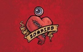 Картинка глаз, сердце, рисунок, зомби, zombie