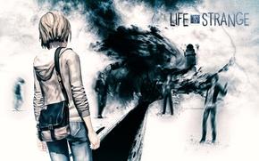 Картинка гроза, шторм, игра, маяк, торнадо, fan art, Life is strange, Макс Колфилд, Max Caulfield, DONTNOD